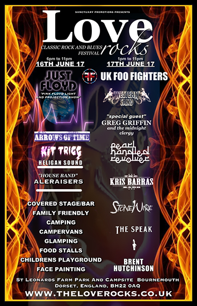 Loverocks 2017 Classic Rock Festival, Bournemouth, Dorset